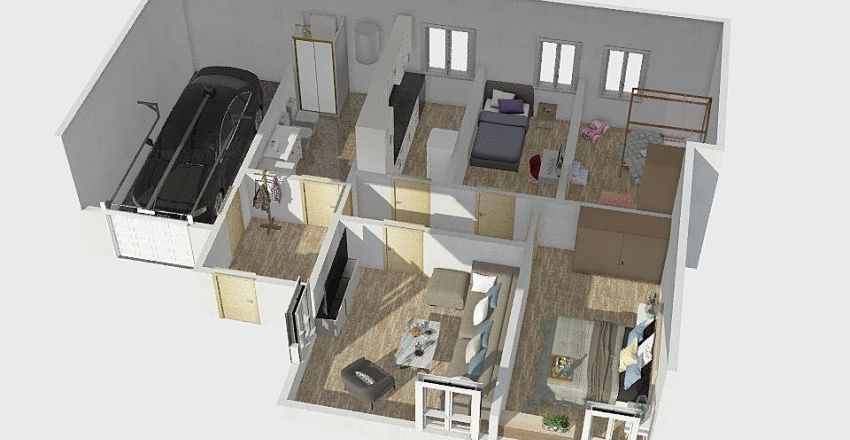 TomasNaujojiVilnia Interior Design Render