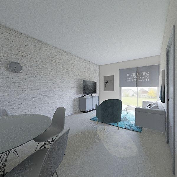 monoambiente 51 mts2 Interior Design Render