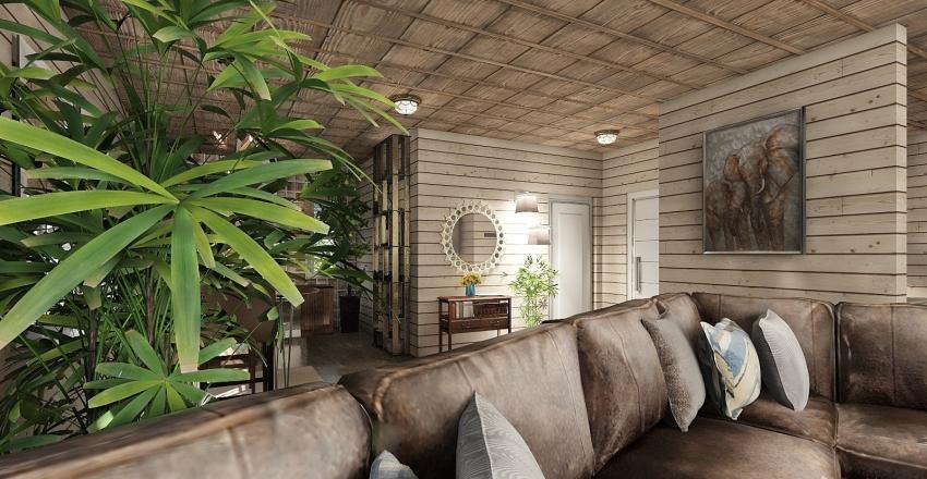 Cottage Swedish style Interior Design Render