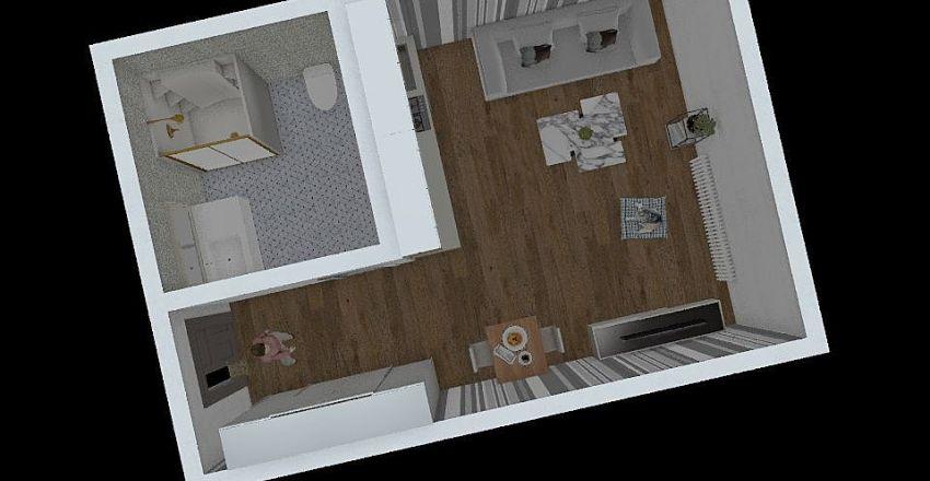1410 návrh bytu Interior Design Render