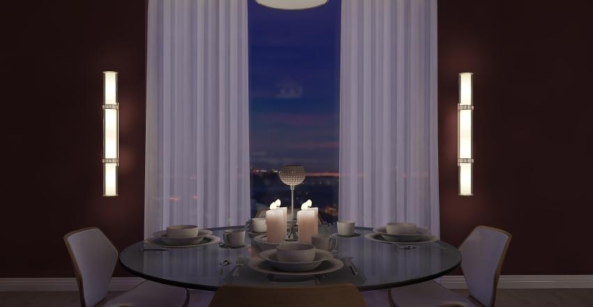 Retro Living Interior Design Render
