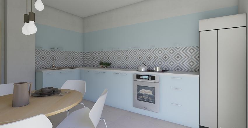 color blue love - kitchen Interior Design Render