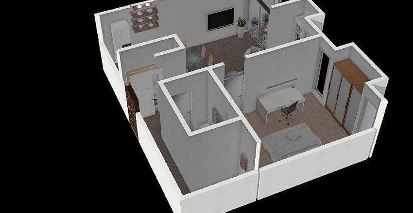 Apartment sadašnje stanje Interior Design Render