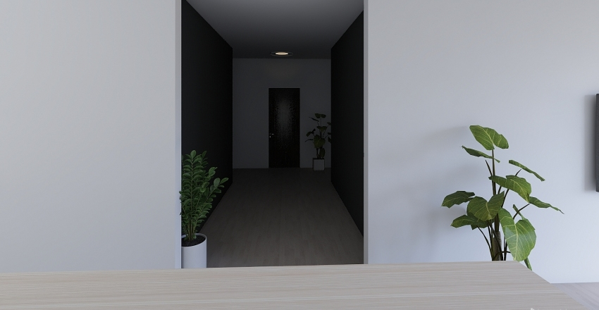 Industrial Chic Interior Design Render