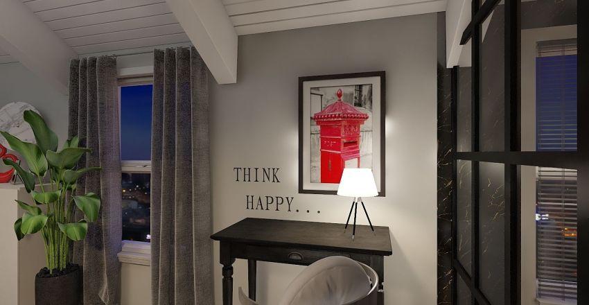 Rouge et Noir Interior Design Render
