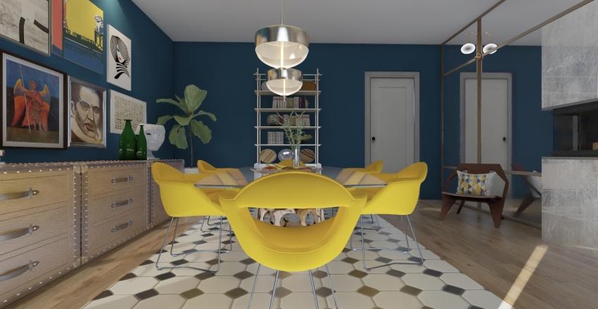 Eclectic zest Interior Design Render