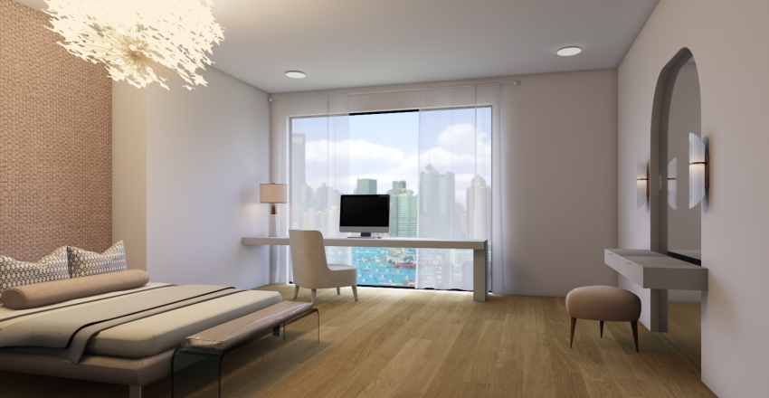 Luxury Condo Interior Design Render