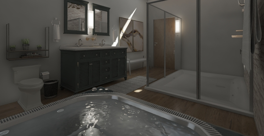 A Traditional Spa BR Interior Design Render