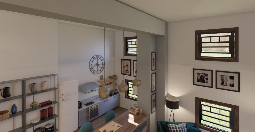 Old Brewery Loft Interior Design Render