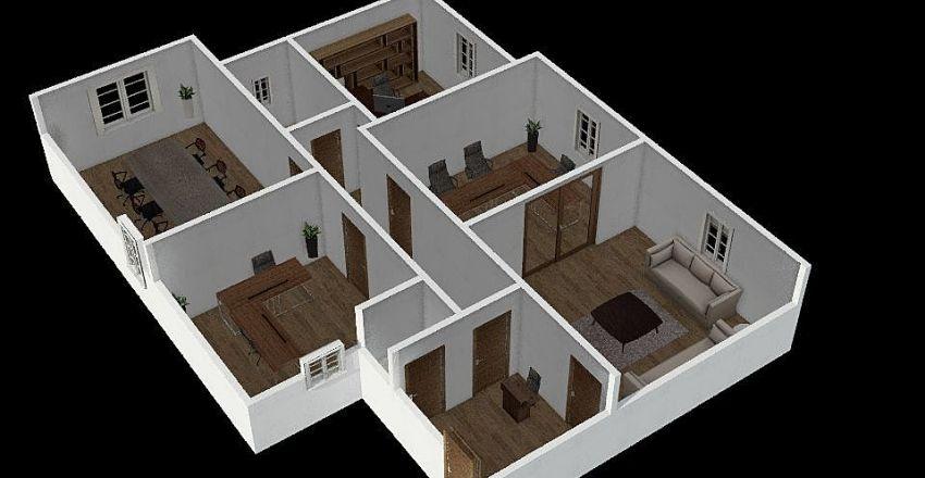 Falak - Five rooms Office Interior Design Render