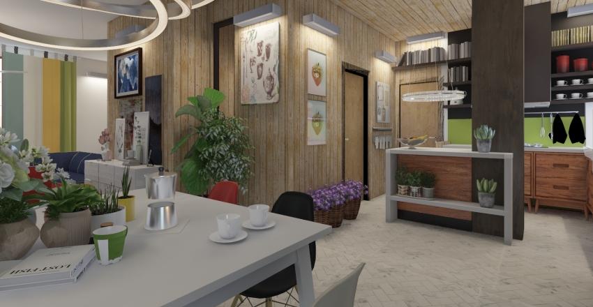 una casa pop-eclettica Interior Design Render