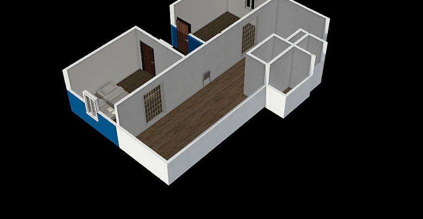 2 tupaa ja keskikuisti 2019 Interior Design Render