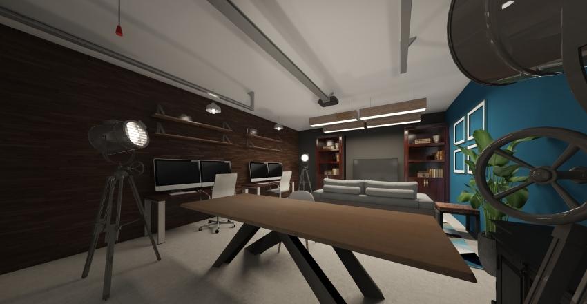 Garage Office 1 Interior Design Render
