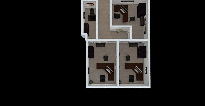 Oficina Pl 6 - Edif. Helios - Sevilla Interior Design Render