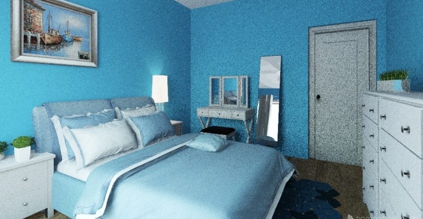 coastal-chic bad-room Interior Design Render