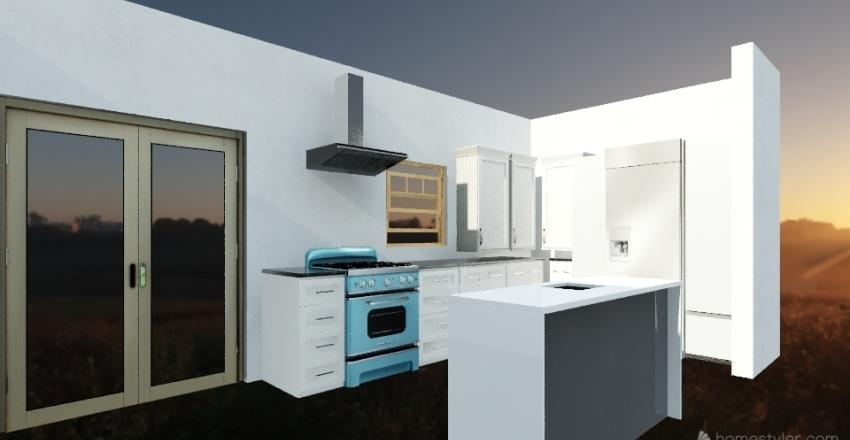 Austin kitchen new option 1 Interior Design Render