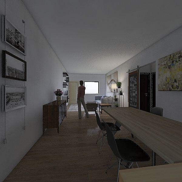2 dorm. s/ varanda Interior Design Render