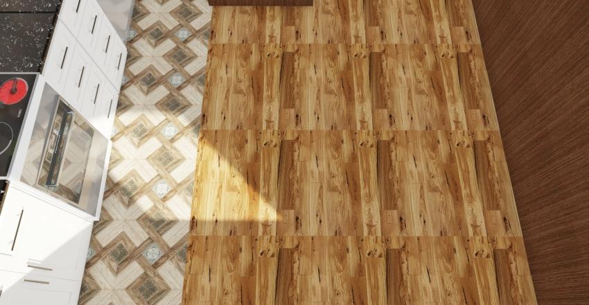 Kitchen-wood Interior Design Render