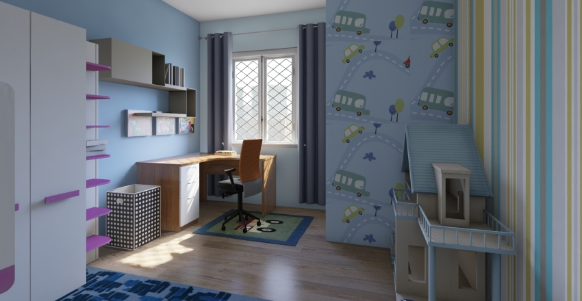 детскаz Interior Design Render