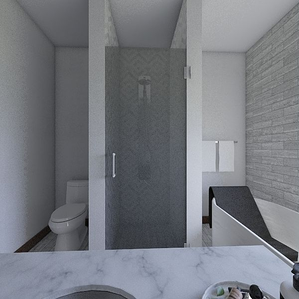Washroom Interior Design Render