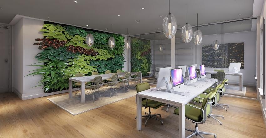 Green Office. Interior Design Render