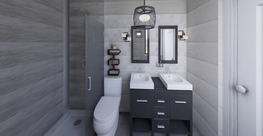 baño pequeño newton 4 Interior Design Render