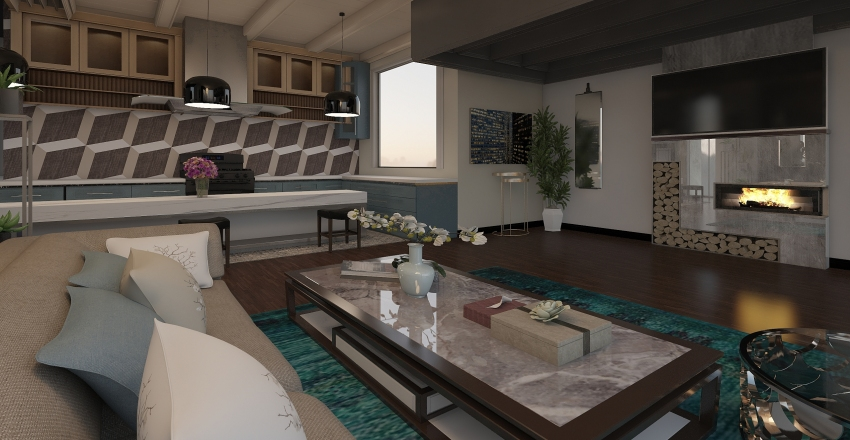 COUNTRY STYLE Interior Design Render