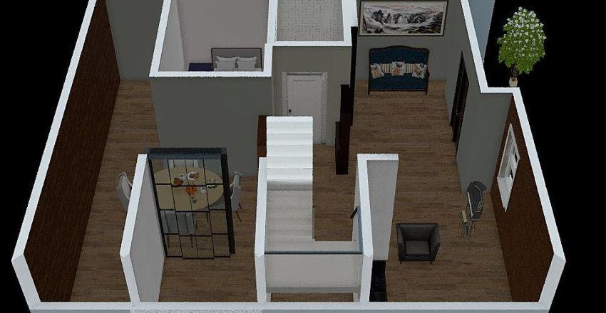 denah lantai 1 3d V3 Interior Design Render