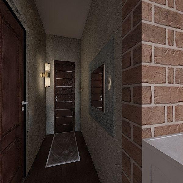 double bedroom house Interior Design Render