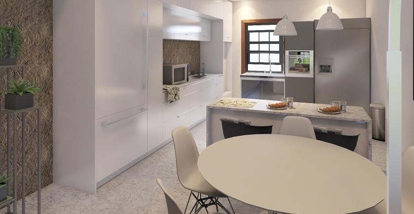 LoFt com Mezanino Interior Design Render