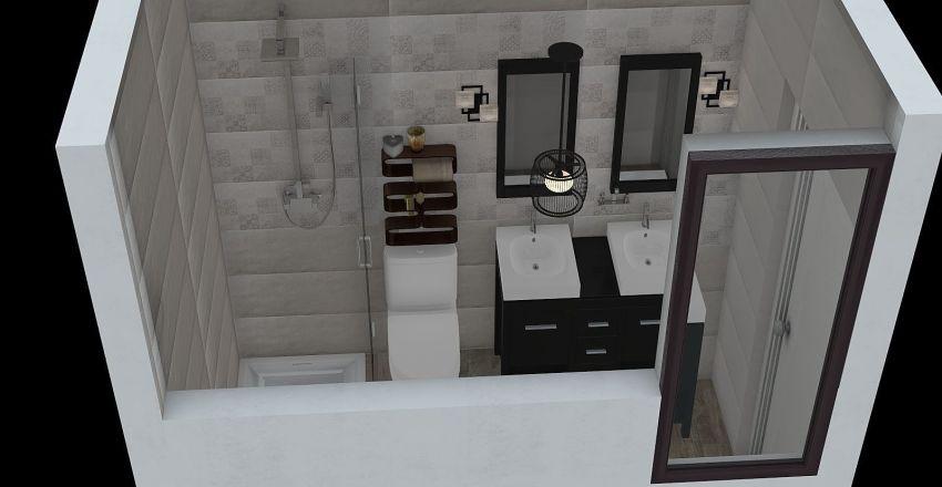 baño pequeño newton Interior Design Render