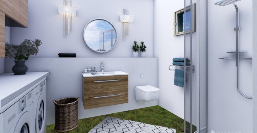 Gyál Fürdősszobaterv Interior Design Render