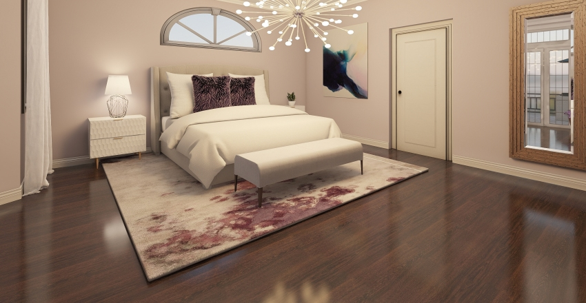 Splash of Purple Interior Design Render