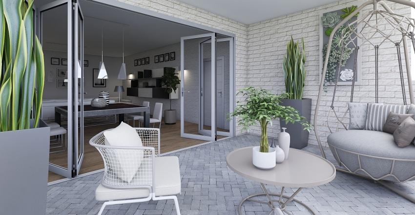 Apartamento en la costa Interior Design Render