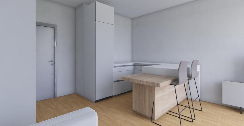 DIMA_WhiteKitchen Interior Design Render