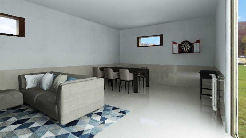 MAN CAVE 50 Interior Design Render