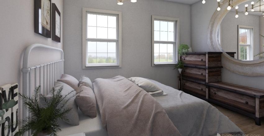 ranch home modern Interior Design Render