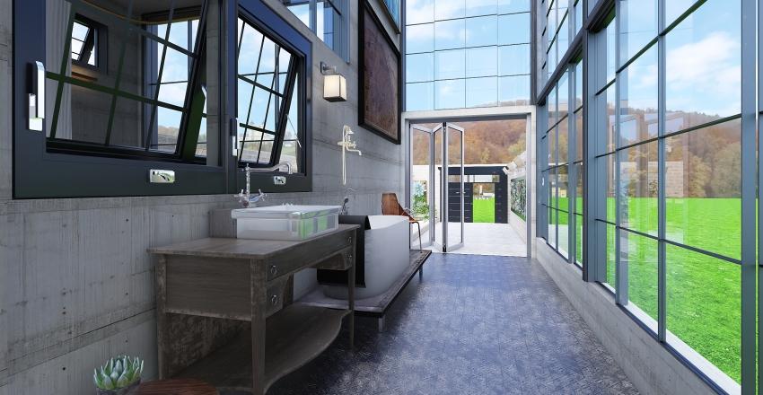 瑪格的皮革浴室 Interior Design Render