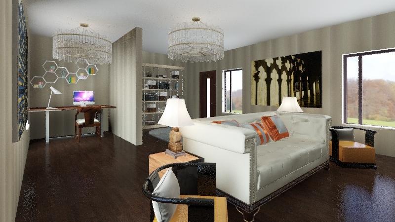 Family Room 2 Interior Design Render