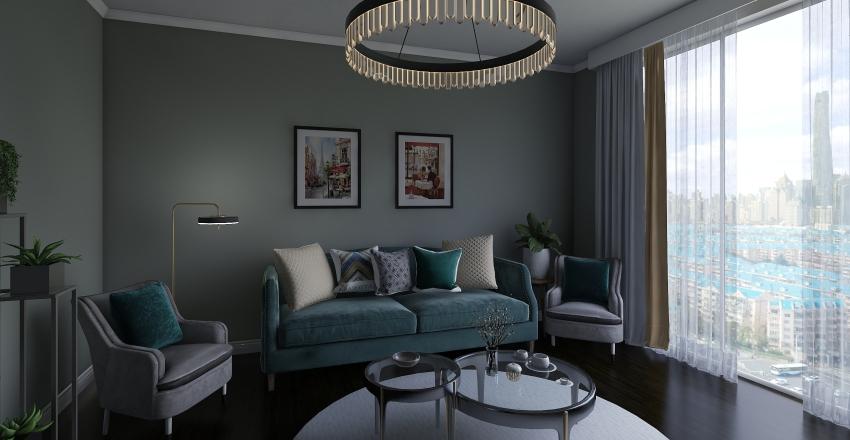 modest apartment Interior Design Render