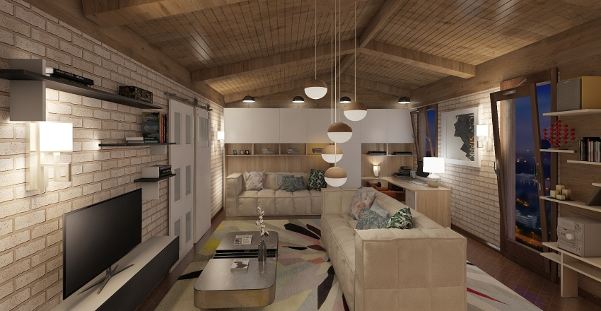 case a schiera Interior Design Render
