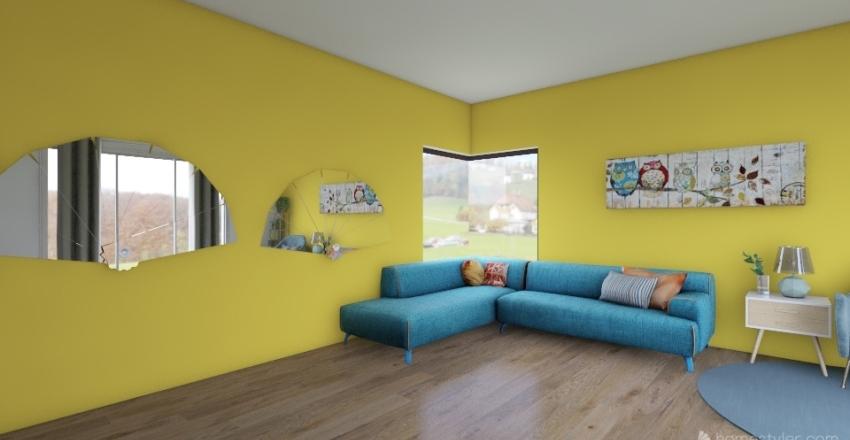 Livingroom 1. Emma Gutierrez Interior Design Render