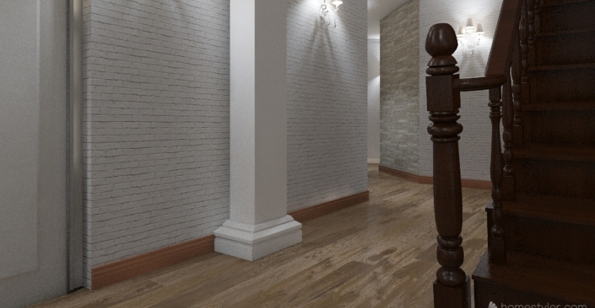 Apartment Green Park Interior Design Render