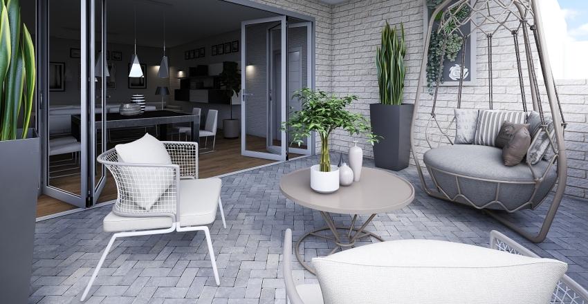 Apartamento en la costa- salon Interior Design Render