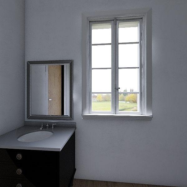 SIngel bed room Interior Design Render
