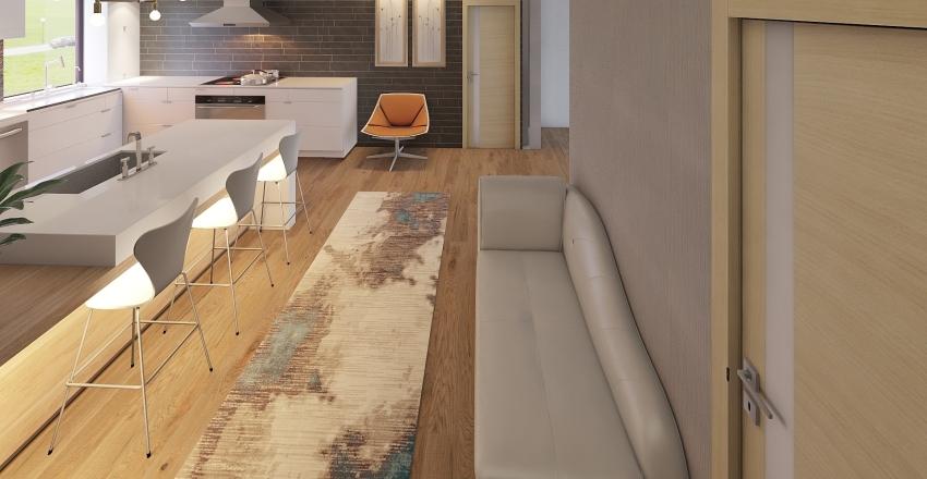 Kitchen wall led no window Interior Design Render