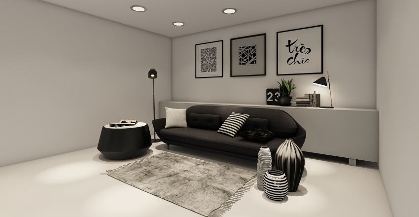 White Space  Interior Design Render