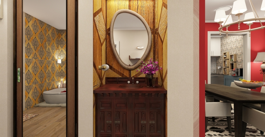 Traditional n Modern Mixed up Interior Design Render