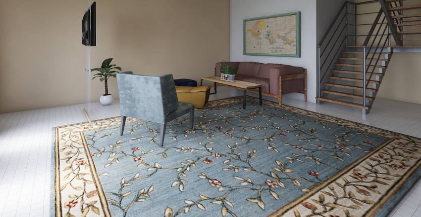 Дача Interior Design Render