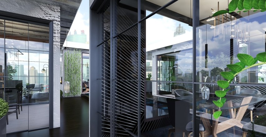 Bella Vino - Wine Bar with private dining Interior Design Render